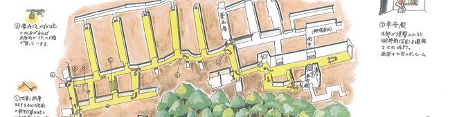 赤山地下壕ガイドマップ(一部)