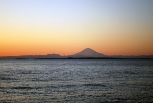 鋸南・大六海岸からの夕日